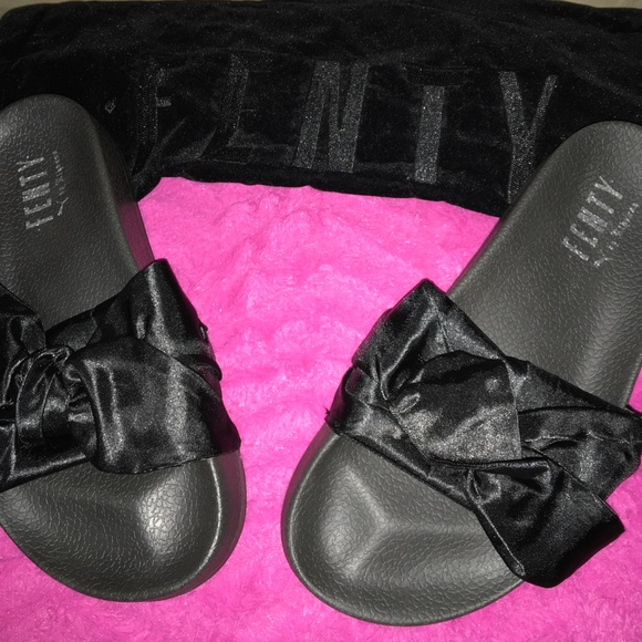 Rihanna Slippers Elegant Bow Womens